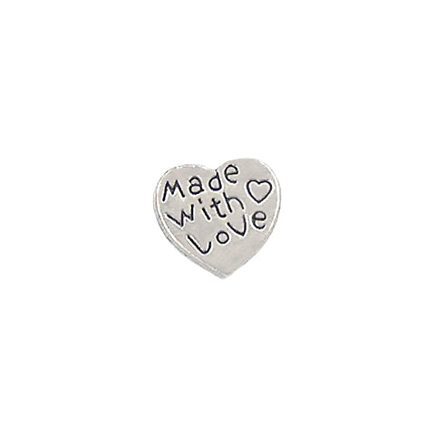 'MADE WITH LOVE' INSCRIPTION CHARM - Statelight
