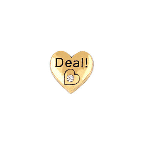 GOLD DEAL! CRYSTAL HEART CHARM - Statelight