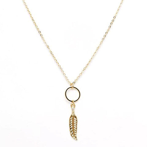 ANYA GOLD FEATHER NECKLACE - Statelight