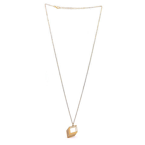 ZAIRE GEOMETRIC GOLD NECKLACE - Statelight