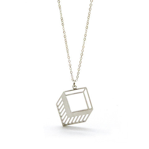 ZAIRE GEOMETRIC SILVER NECKLACE - Statelight