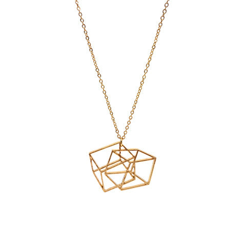 QUINN GEOMETRIC GOLD NECKLACE - Statelight