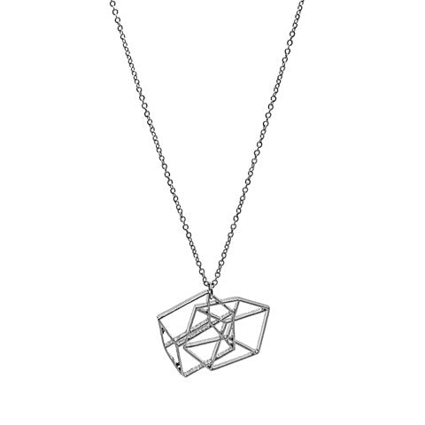 QUINN GEOMETRIC SILVER NECKLACE - Statelight