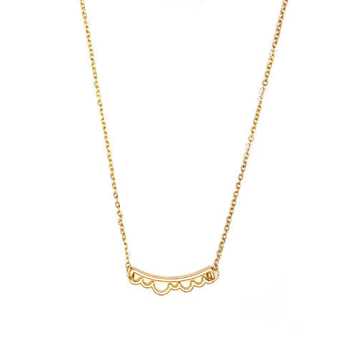 AMELIE DAINTY CLOUD GOLD NECKLACE - Statelight