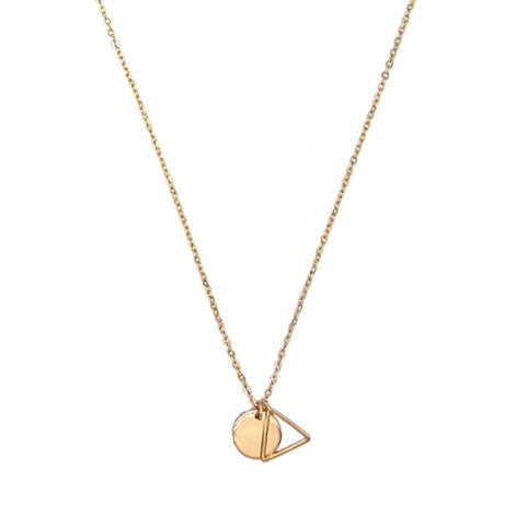 LEA SHAPE GOLD NECKLACE - Statelight