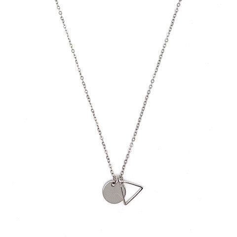 LEA SHAPE SILVER NECKLACE - Statelight