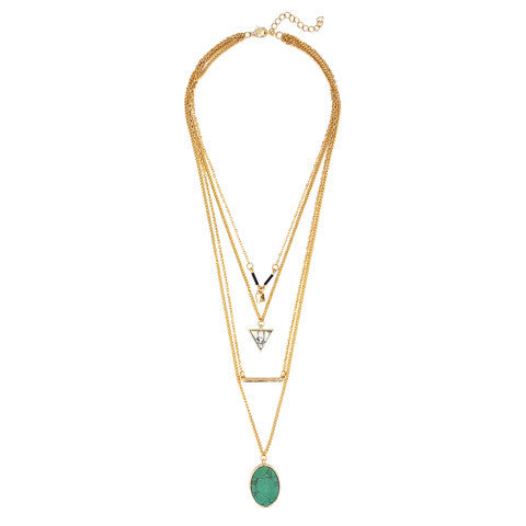 LILA GOLD & TURQUOISE NECKLACE - Statelight