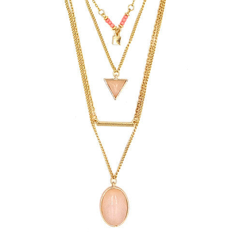 LILA GOLD & PINK NECKLACE - Statelight