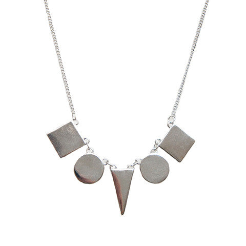 DONTE GEOMETRIC SILVER NECKLACE - Statelight