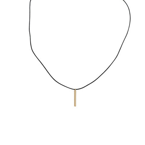 ANDREA GOLD BAR PENDANT CHOKER - Statelight