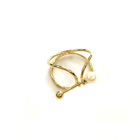 MADELYN PEARL GOLD RING - Statelight