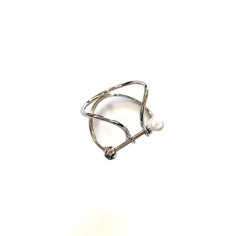 MADELYN PEARL SILVER RING - Statelight