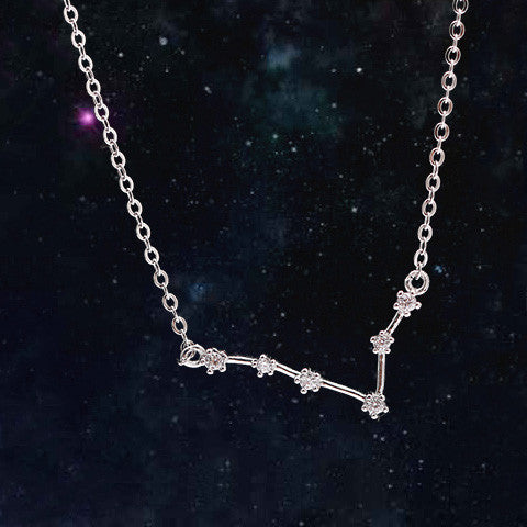 PISCES CELESTIAL NECKLACE in 925 Silver - Statelight