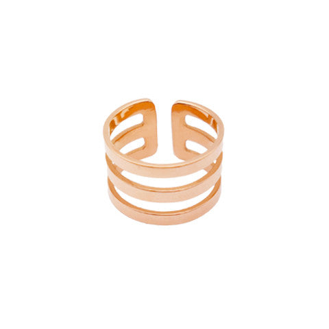 PALOMA TRI-CUT ROSE GOLD RING in Stainless Steel - Statelight