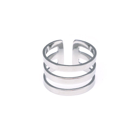 PALOMA TRI-CUT SILVER RING in Stainless Steel - Statelight