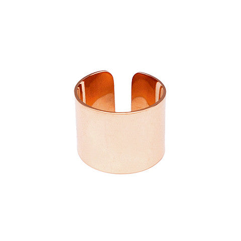 ADLEY ROSE GOLD BAND RING in Stainless Steel - Statelight