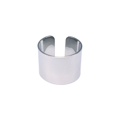 ADLEY SILVER BAND RING in Stainless Steel - Statelight