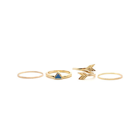 ERIKA GOLD BOUNTY RING SET - Statelight