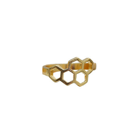 DELIA GOLD HONEYCOMB RING - Statelight