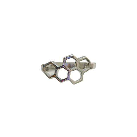 DELIA SILVER HONEYCOMB RING - Statelight