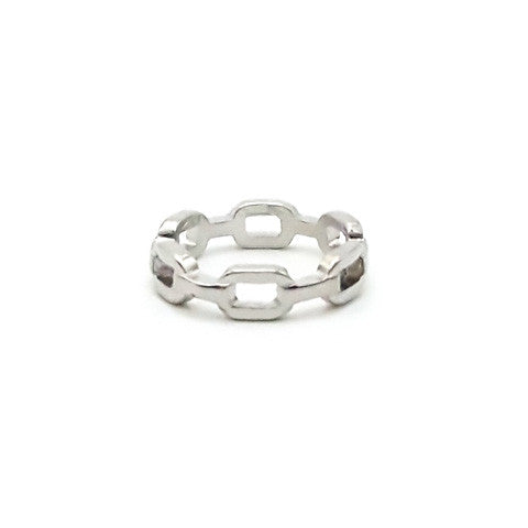 ELOISE SILVER CHAIN RING - Statelight