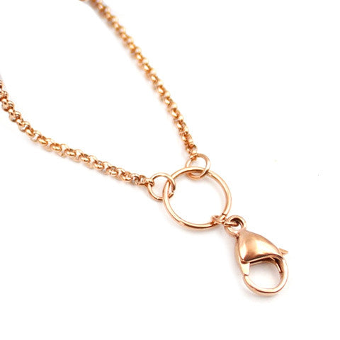 "STAINLESS STEEL 32"" ROSE GOLD CHAIN - Statelight"
