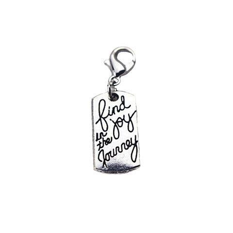 """FIND JOY IN THE JOURNEY"" SILVER DANGLE - Statelight"