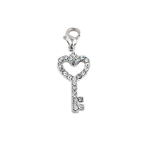 SILVER CRYSTAL KEY DANGLE - Statelight