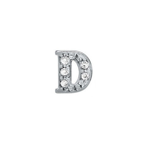 SILVER CRYSTAL LETTER D CHARM - Statelight