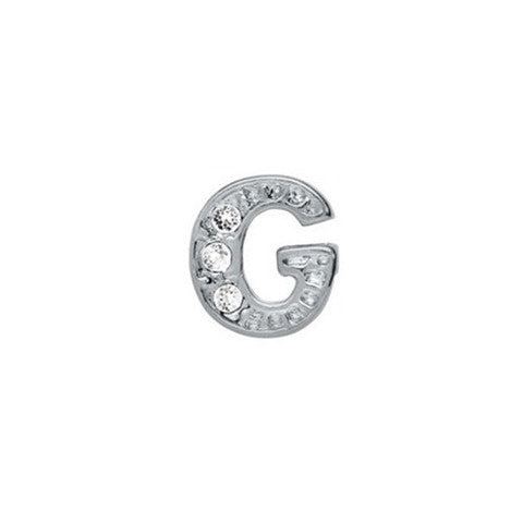 SILVER CRYSTAL LETTER G CHARM - Statelight