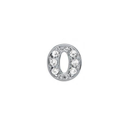 SILVER CRYSTAL LETTER O CHARM - Statelight