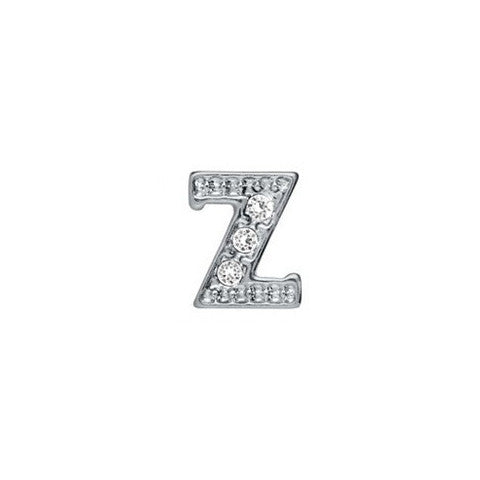 SILVER CRYSTAL LETTER Z CHARM - Statelight