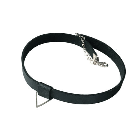 MADISON LEATHER CHOKER (SILVER) - Statelight