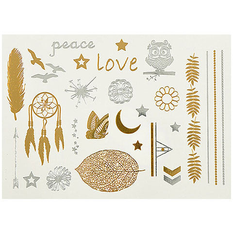 OF PEACE AND STARS FLASH TATTOOS - Statelight