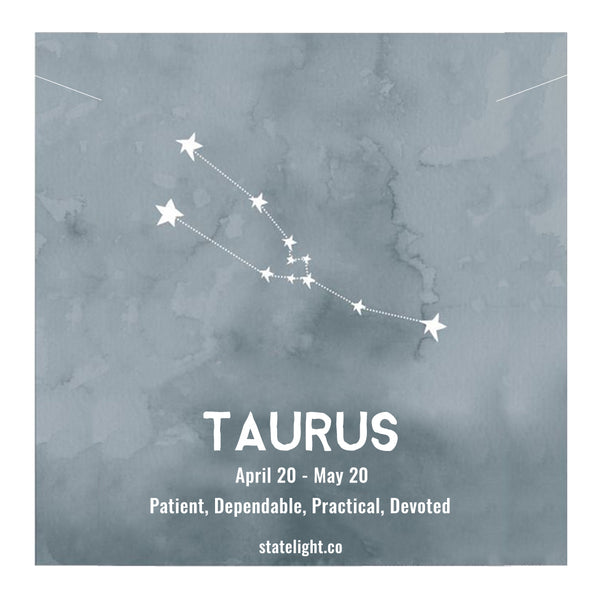 TAURUS CELESTIAL ROSE GOLD NECKLACE - Statelight