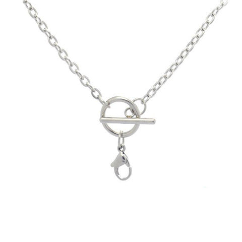 "STAINLESS STEEL 18"" SILVER TOGGLE CHAIN - Statelight"