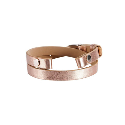 ROSE GOLD GENUINE LEATHER WRAP