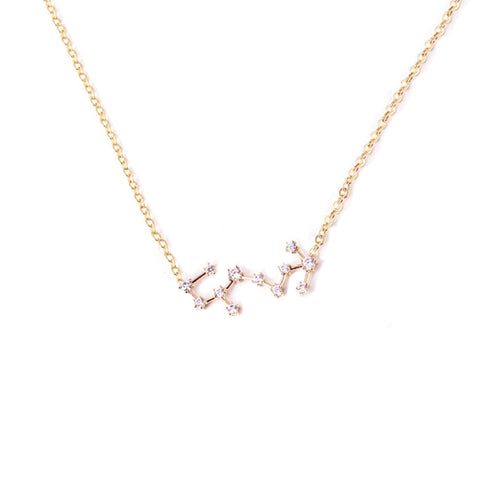 SCORPIO CELESTIAL ROSE GOLD NECKLACE - Statelight