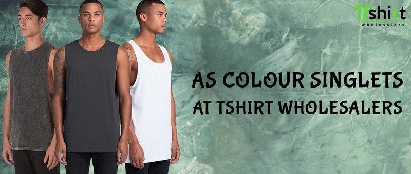 AS Colour Singlets at T shirt Wholesalers