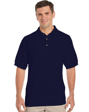 Gildan-Gildan Ultra Cotton™ Classic Fit Adult Jersey Sport Shirt-Navy / M-Uniform Wholesalers - 2