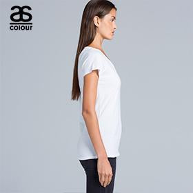 Ascolour Bevel V-Neck Tee-(4010)