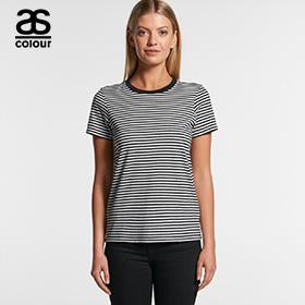 Ascolour WO'S Bowery Strip Tee - (4060)