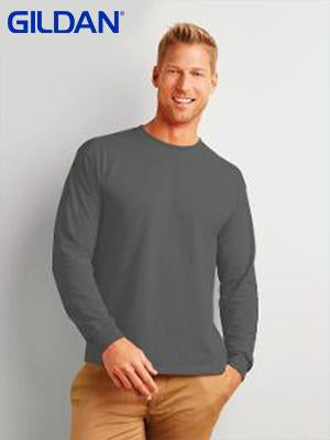 Gildan Adult Ultra Cotton  L/Sleeve T/S 205GM-(2400)