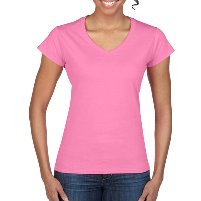 Gildan Soft Style Ladies V Neck T/S-(64V00L)