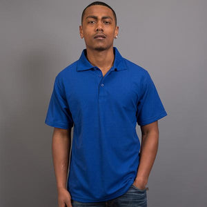 Sportage Men Raven Poly/Cotton Pique Knit Polo (9786)