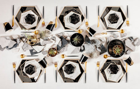 Black + Gold Modern Chic Dinner Party