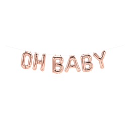 Foil Rose Gold 'OH BABY' Balloon