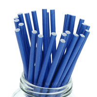 Paper Straws - Royal Blue