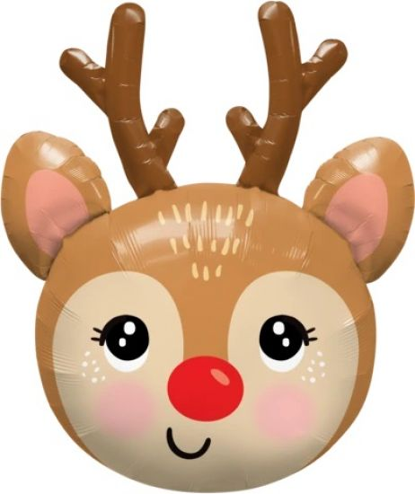 Rudolf Reindeer Head Foil Shape Balloon