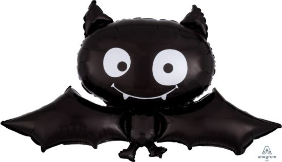 Black Bat Foil Balloon - BACK 7 OCT